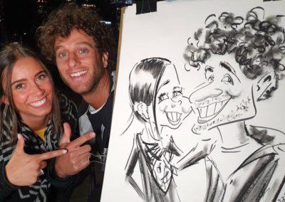 Couple Caricature in Melbourne Live Event
