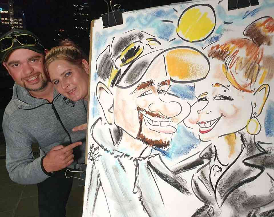 Live Caricature Artist Cartoonist in Melbourne 4