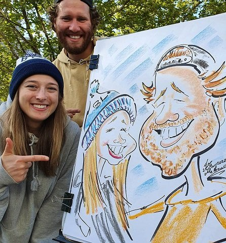 Live caricature drawing by Melbourne Caricature Artist